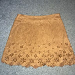 LOVE - suede mini skirt